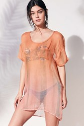 Out From Under Gauze Tee Cover Up Rose