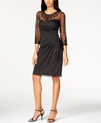 Patra Matte Chiffon Beaded Dress Black