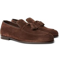 Harry's Of London Adrian Suede Tasselled Loafers Dark Brown