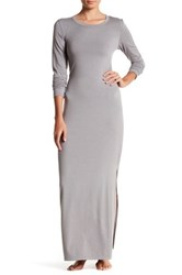 Barefoot Dreams Long Sleeve Dress Gray