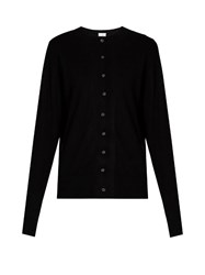 Raey Slim Fit Cashmere Cardigan Black