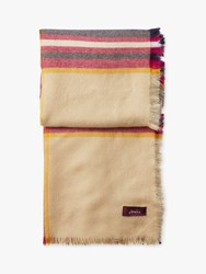 Joules Heyford Check Square Scarf Cream Multi