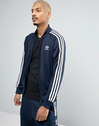 Adidas Originals Track Jacket In Blue Bk5919 Blue