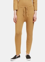 Lauren Manoogian Arch Ribbed Track Pants Brown