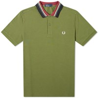 Fred Perry Authentic Stripe Collar Polo Green