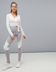 South Beach Contrast Waist Legging Grey