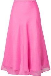Maggie Marilyn Because We Can Silk Organza Midi Skirt Pink