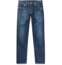 Visvim Social Sculpture 10 Distressed Denim Jeans Blue