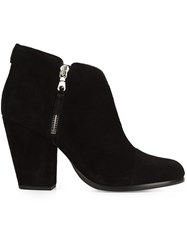 Rag And Bone Zip Up Ankle Boots Black