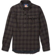 Blackmeans Checked Cotton Flannel Shirt Gray