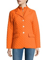 Jane Post Quilted Riding Jacket Orange