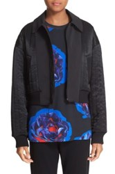 Dkny Reversible Quilted Bomber Jacket Black