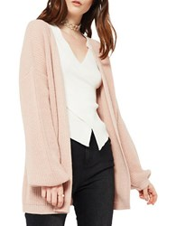 Miss Selfridge Knit Pointel Cardigan Pink
