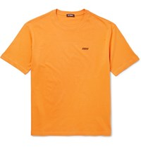 Raf Simons Printed Cotton Jersey T Shirt Orange