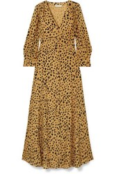 Nicholas The Front Leopard Print Silk Crepe Maxi Dress Leopard Print