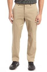 Nike Men's Flat Front Dri Fit Tech Gold Pants Khaki Khaki
