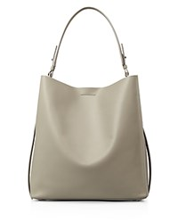 Allsaints Paradise North South Tote Light Cement Grey Silver