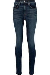 Rag And Bone Dive Mid Rise Skinny Jeans Dark Denim