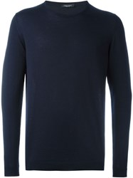 Roberto Collina Crew Neck Sweater Blue