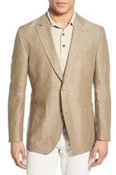 Kroon Classic Fit Wool And Silk Sport Coat Brown