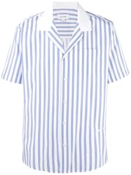Soulland Striped Short Sleeve Shirt Blue
