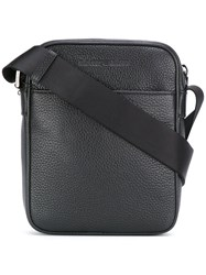Emporio Armani Messenger Bag Men Calf Leather Polyester One Size Black