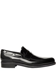 Jimmy Choo Brushed Leather Pointed Penny Loafers