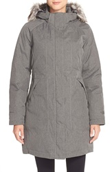 The North Face 'Arctic' Parka With Removable Faux Fur Trim Hood Graphite Grey