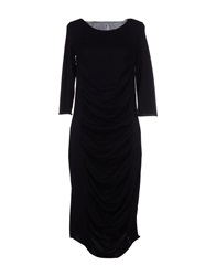 Liviana Conti Knee Length Dresses Black