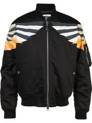 Givenchy Patch Detail Bomber Jacket Black