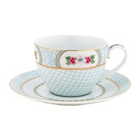 Pip Studio Blushing Birds Cappuccino Cup And Saucer White