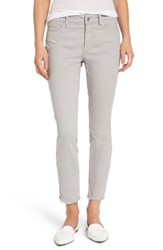 Nydj Women's Alina Frayed Stretch Twill Ankle Pants Moonstone Grey