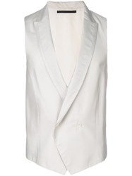 Pal Zileri Double Breasted Waistcoat White