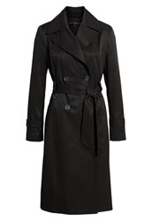Via Spiga Double Breasted Trench Coat Black