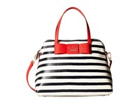 Kate Spade Julia Street Stripe Maise Rich Navy Cream Satchel Handbags Blue