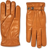 Hestra Jake Wool Lined Leather Gloves Brown