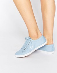 Fred Perry Kingston Twill Sky Blue Trainers Sky Blue Snow White