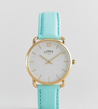 Limit Faux Leather Watch In Pastel Green 38Mm Exclusive To Asos