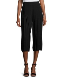 1.State Lightweight Pleated Culotte Pants Black