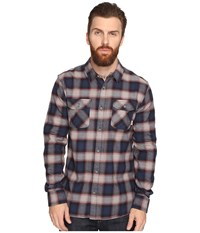 Vans Banfield Flannel Shirt Dress Blues Pewter Men's Long Sleeve Button Up Multi