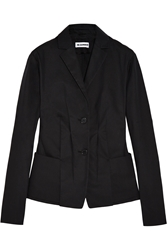 Jil Sander Pleated Cotton Blend Canvas Blazer
