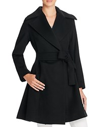 Trina Turk Violet Fit And Flare Coat Black