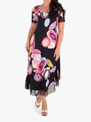 af7b3bf784c Chesca Asymmetric Abstract Print Jersey Dress Black Multi