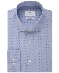 Ryan Seacrest Distinction Men's Slim Fit Non Iron Blue Dot Dress Shirt
