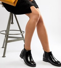 London Rebel Wide Fit Chelsea Ankle Boots Black Box