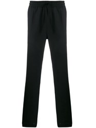 Versace Stretch Straight Leg Trousers Black