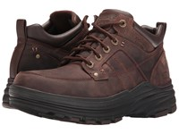 Skechers Relaxed Fit Holdren Lender Dark Brown Leather Men's Lace Up Boots