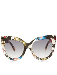 Linda Farrow X Erdem Multi Colour Floral Acetate Sunglasses