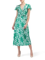 Lily And Lionel Trixie Forget Me Knot Flora Print Dress Green