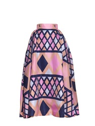 Emilia Wickstead Poppins Geometric Print Silk Organza Skirt